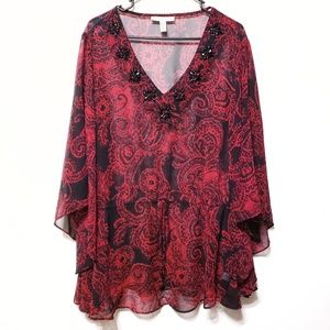 **4 FOR $15***Plus size JMS Blouse